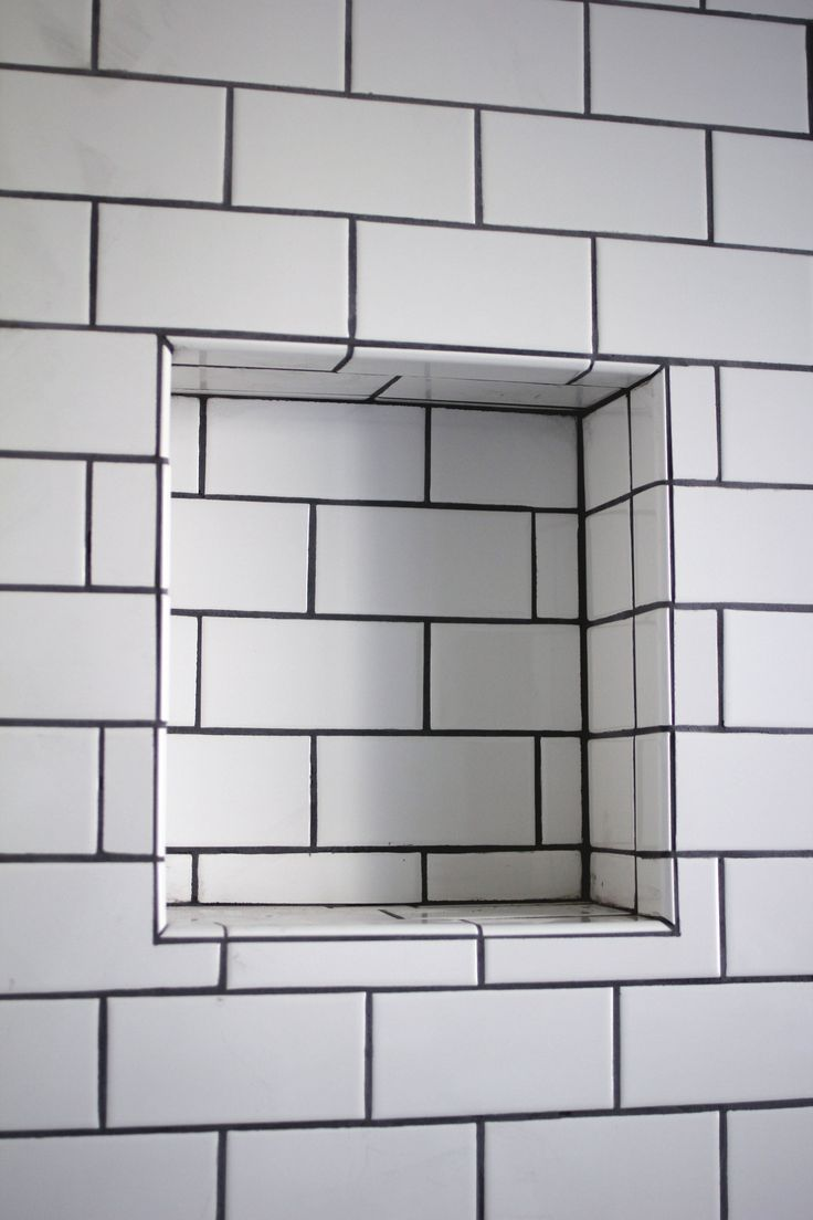 When remodeling a bathroom, consider adding a recessed shower shelf into your design