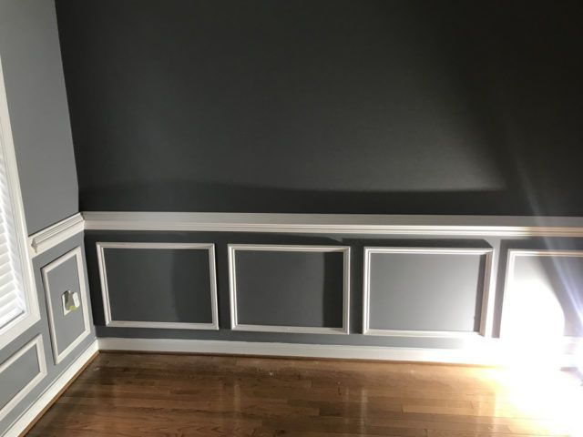 A Simple Wainscoting Diy Project How To Build And Install Picture Frame Molding On Walls Diy Molding Wainscoting Styles Diy Wainscoting
