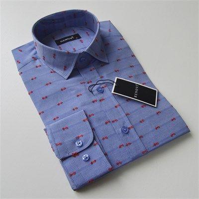 Renovi erkek pamuklu fit kesim mavi gömlek modellerini en ucuz fiyatlarıyla kapıda ödeme ve taksit ile Outlet Çarşım'dan satın al.