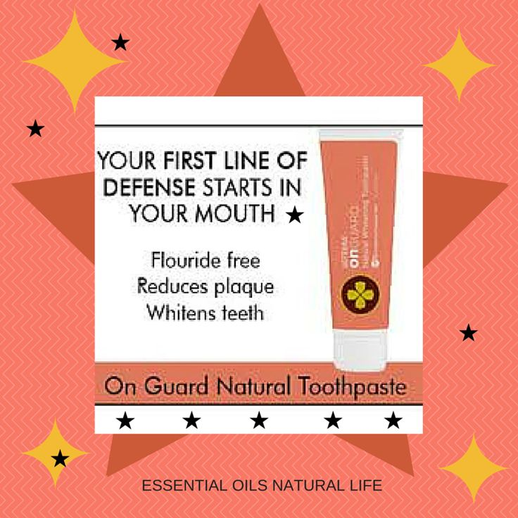 My very favorite all-natural toothpaste!  This doTERRA toothpaste also contains On Guard - a blend of wonderful essential oils!