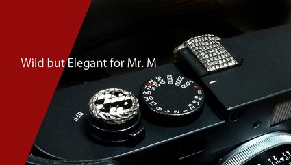 JAY TSUJIMURA TOKYO  Mr. M Soft Release for Leica M-E, M Monochrom and M-240.    Hand-crafted sterling silver soft release attached Python snake skin or Lizard skin for 14 colors you can choose!!    Price 22,000 JYN + shipping 1,000 JYN  info@shopjay.com