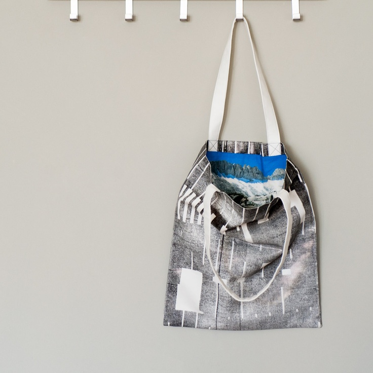 SALE Black foil Canvas Tote Bag Hand Screen Printed by LeeCoren