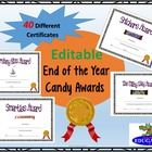 End of the Year Awards - End of Year Candy Awards by HappyEdugator | Teachers Pay Teachers