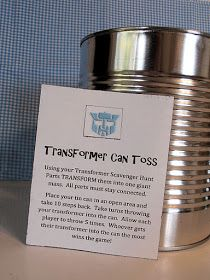 My Creative Stirrings: Transformers Party Favor