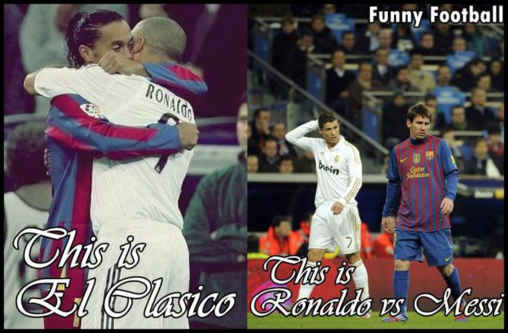 El Clasico. Maybe the two best clubs in World Football - El Clasico is Messi and Neymar vs Bale and Ronaldo and so much more. Barcelona vs Real Madrid #ElClasico