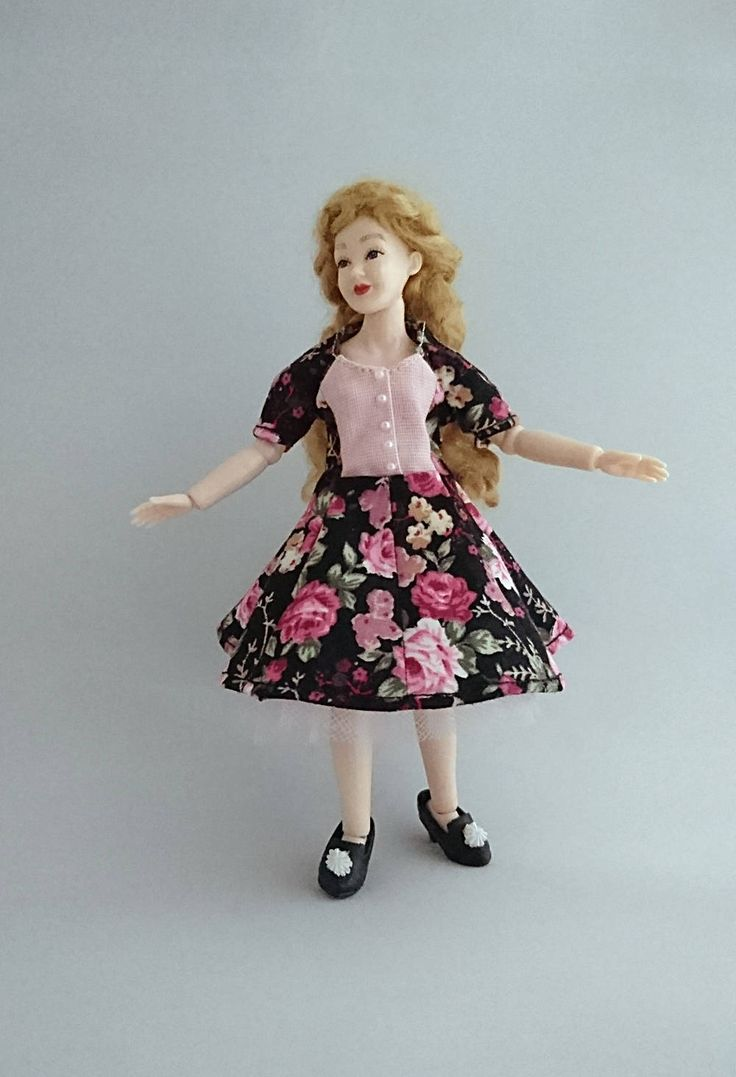 "Wearable dress and petticoat for 1/12 Heidi Ott 5.5"" slim doll. Price contains shipping. by TuulasBoutique on Etsy"