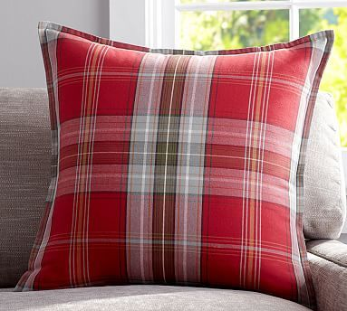 Newburry Plaid Pillow Cover #potterybarn