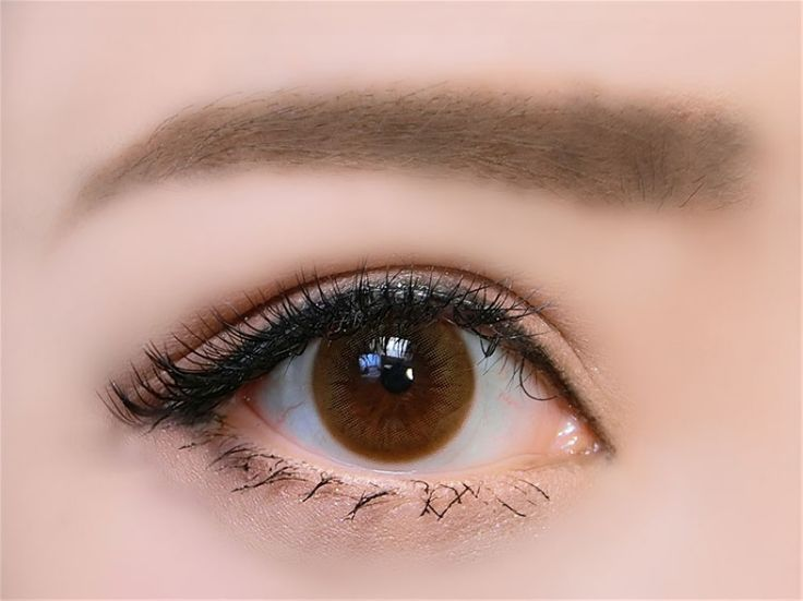14.2mm Cosmetic Colored Contact Lenses Natural Eye (Brown)