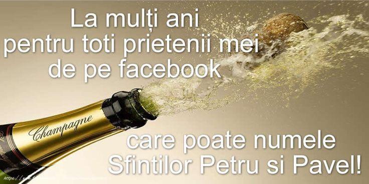 La mulţi ani pentru toti prietenii mei de pe facebook care poate numele Sfintilor Petru si Pavel!