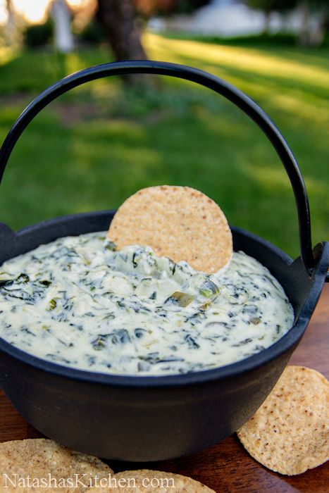 Spinach and Artichoke Dip Recipe—the perfect party starter (from Natasha's Kitchen)