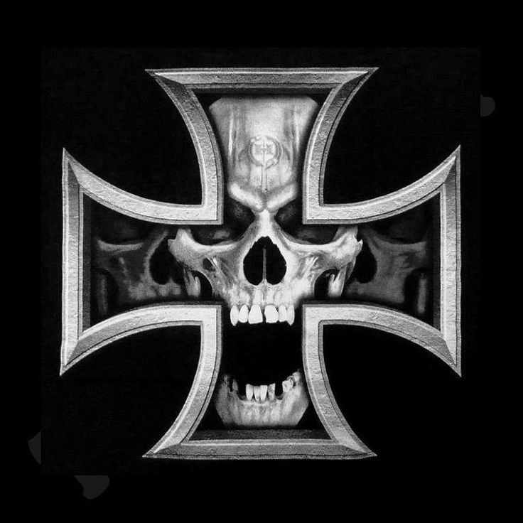 Iron cross Skull | tattoos | Pinterest | Skulls, Crosses ...