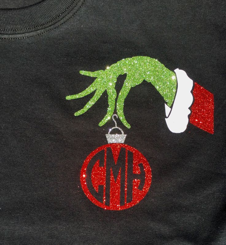 Mr Grinch Ornament Monogram Shirt by BurlapandLaceSC1 on Etsy https://www.etsy.com/listing/252653877/mr-grinch-ornament-monogram-shirt