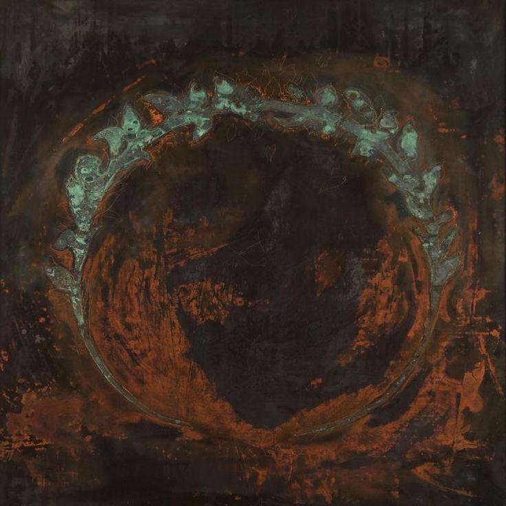 Omar Galliani In rame, 1989 incisione su rame, acido nitrico in soluzione acquosa, cm 100x100 engraving on copper, nitric acid in water solution, cm 100x100 © Luca Trascinelli