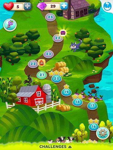 Fruit Splash Mania Level Selection: screenshots, UI