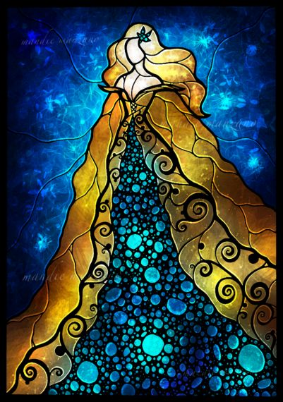 Fair Ophelia Stained Glass