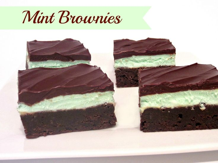 Chocolate Mint Brownies - Love to be in the Kitchen