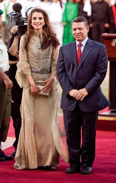 Queen Rania & king Abdullah of Jordan