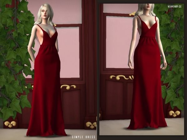 [Heavendy-cc] Simple Dress - The Sims 4 Download - SimsDom