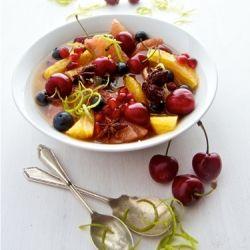 Spiced Christmas Fruit by shadesofcinnamon via healthyaperture #Salad #Fruit #Christmas