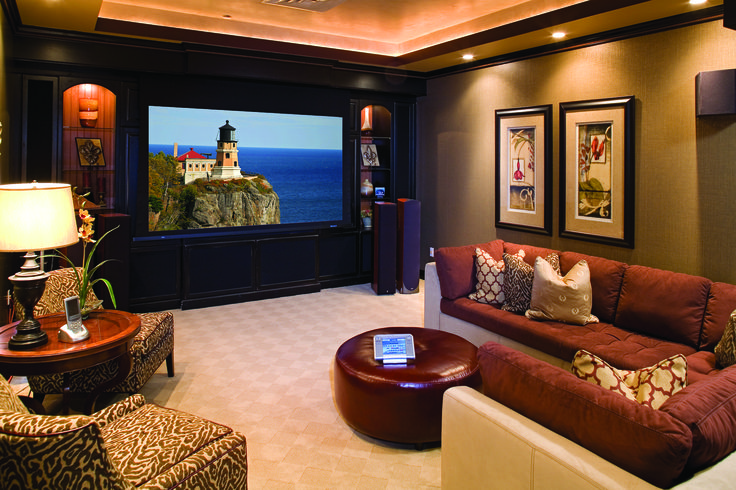 Home Theater Living Room Design Regarding State Of The