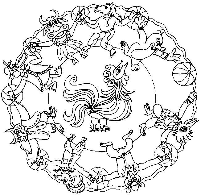 animals mandala coloring pages for adults and teenagers free high quality
