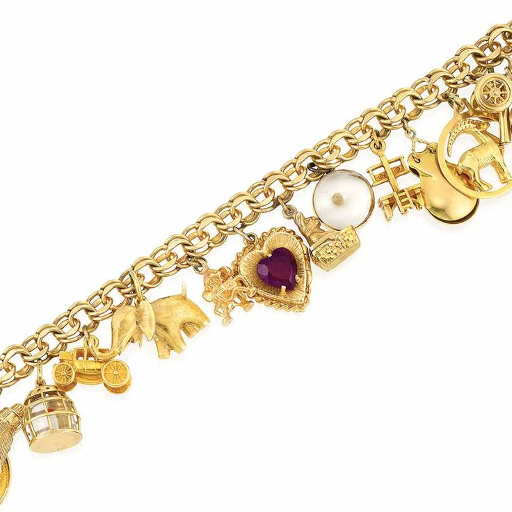 17 best images about gold charm bracelets on