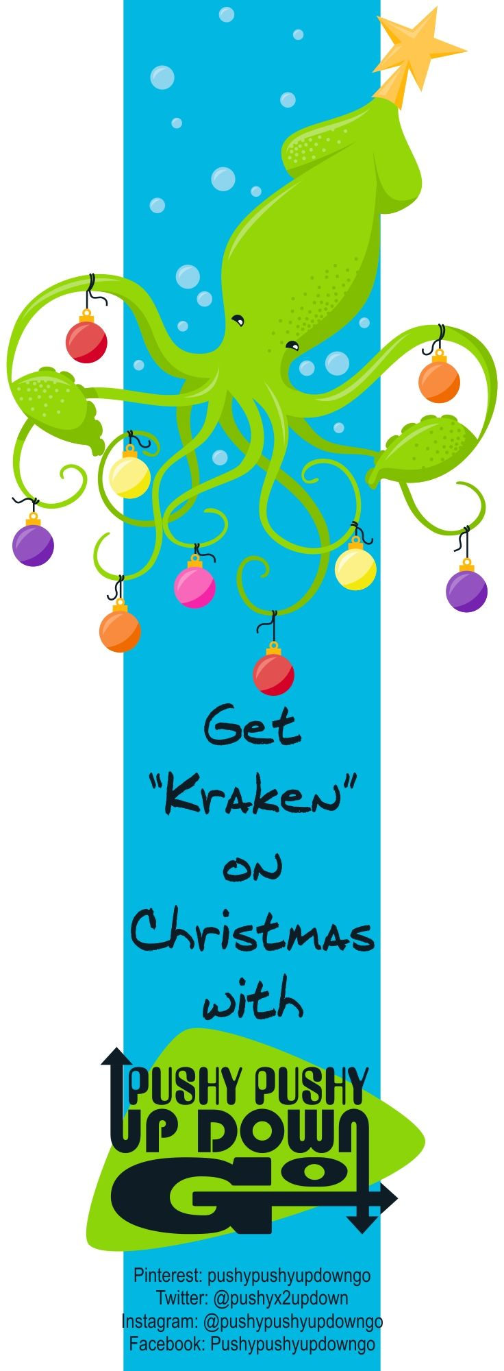 Funny Christmas Kraken Ocean Theme Holiday Cards Set, Greeting Card & Note Cards Set, Thank You Cards Set - If you're looking for something a little different for the holidays this year, this Funny Christmas Kraken Ocean Theme Holiday Cards Set might just be the thing for you! Perfect for Christmas or just for some general winter fun, these holiday cards make wonderful note cards, cute thank you cards, delightful greeting cards, and even funny invitations.