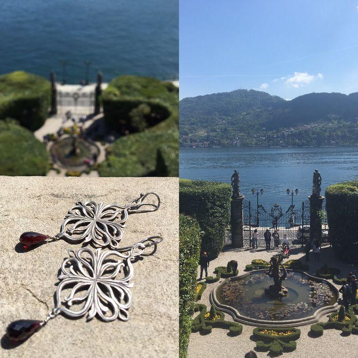 """Akuaduulza gioielli.                    Collezione I Pizzi del lago""""di Como a villa Carlotta Tremezzo in argento brunito fatti a mano made in taly"""