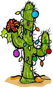 Full Version of Christmas Lights & Ribbon on Saguaro Cactus Clipart