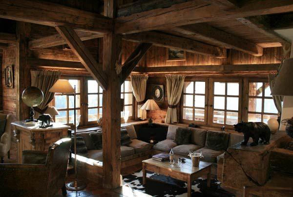Chalet le Chamois, le luxe exceptionnel à Megève, authentique et entièrement contruit en vieux bois d'une ferme suisse
