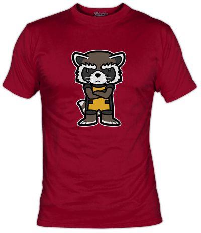 Parodia Super Deformed del personaje Rocket Raccoon de los Guardianes de la Galaxia. Es pequenito, muy mono pero con muy malas pulgas.