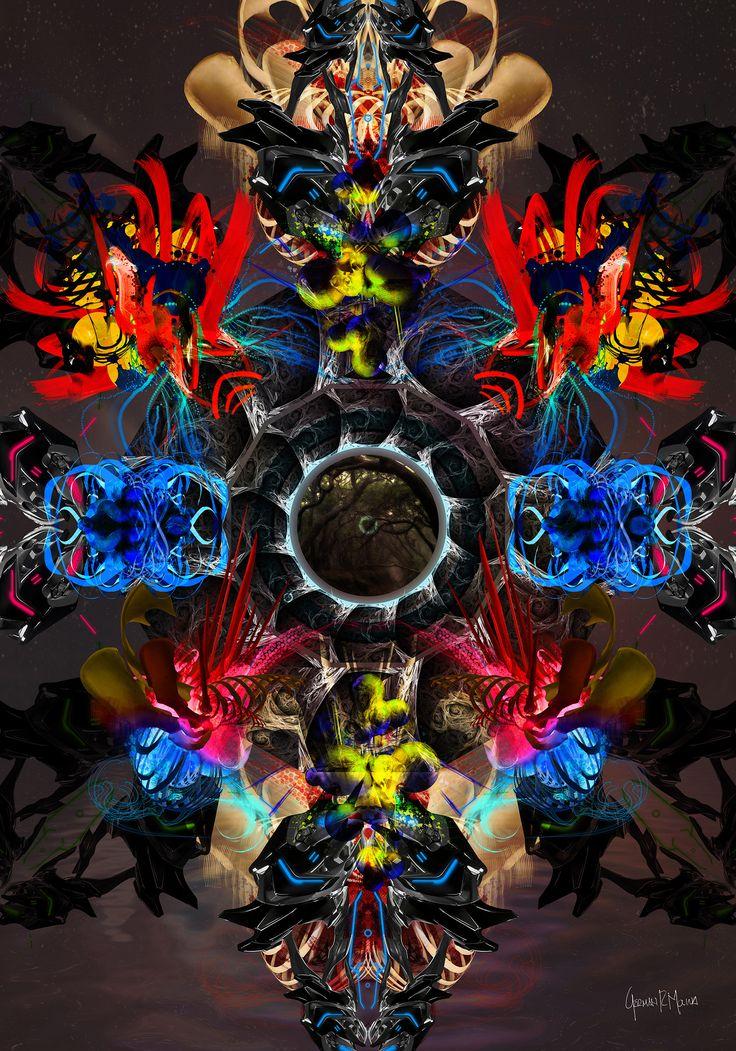 Psychic Influence 2 Arte Digital German Molina - Papel Fotográfico sobre soporte de madera - Tamaño 100 x 70 cms - Disponible para venta - Info: advisioncolombia@gmail.com