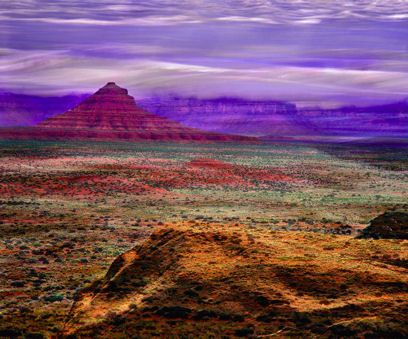 Painted Desert, AZ  It really did look like this. Vivid colors. 2007