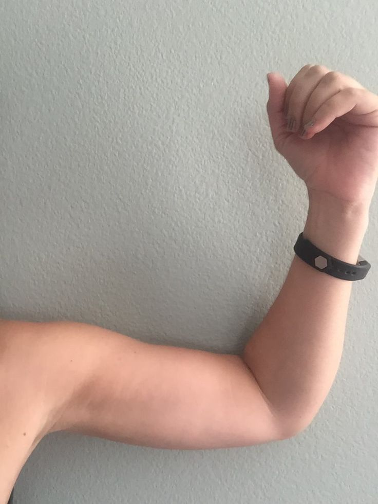 I got rid of my arm flab in just three months and using only 5 pound weights! It only takes 15 minutes, 4 times a week to get toned arms. You can do it!