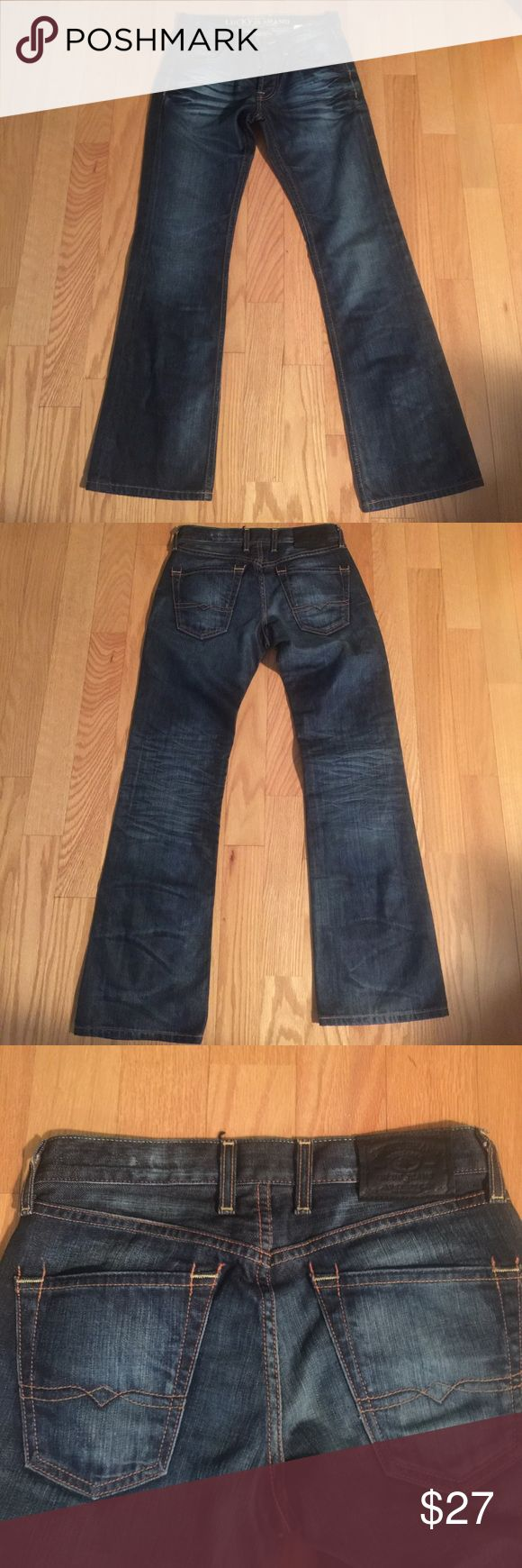 Lucky Brand Bootleg Jeans Slim fit button fly bootleg jeans. Sizr 28/30. The jeans has never been worn. It was used as the display item by the retailer (pic 6) Lucky Brand Jeans Boot Cut