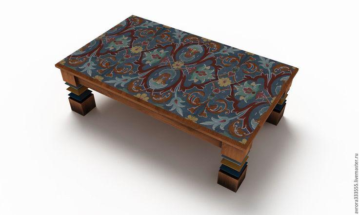 Купить Стол Новый проект - комбинированный, синий, желтый, белый, красный, стол, журнальный стол