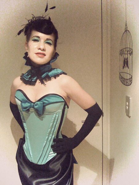 'Mademoiselle' burlesque ball outfit