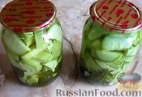 Фото к рецепту: Пряные маринованные кабачки (на зиму)