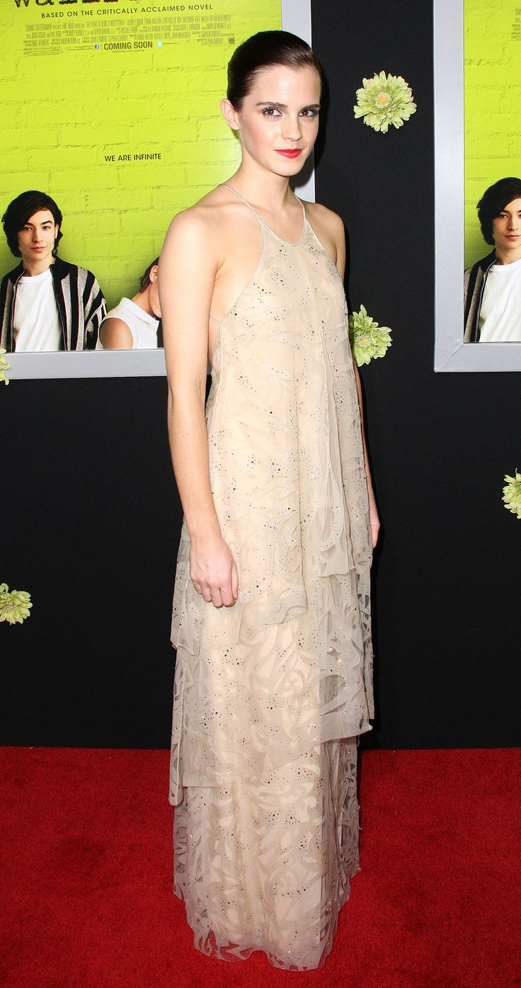 In 2012 at The Perks of Being a Wallflower premiere in Hollywood. | 21 Times Emma Watson Has Been The Most Flawless Woman Of The Decade