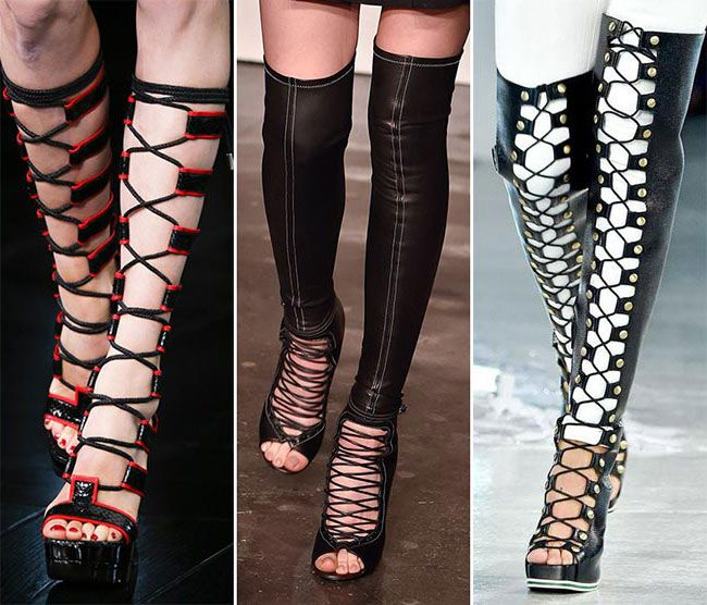 Обувь со шнуровкой - тенденции весна-лето 2015