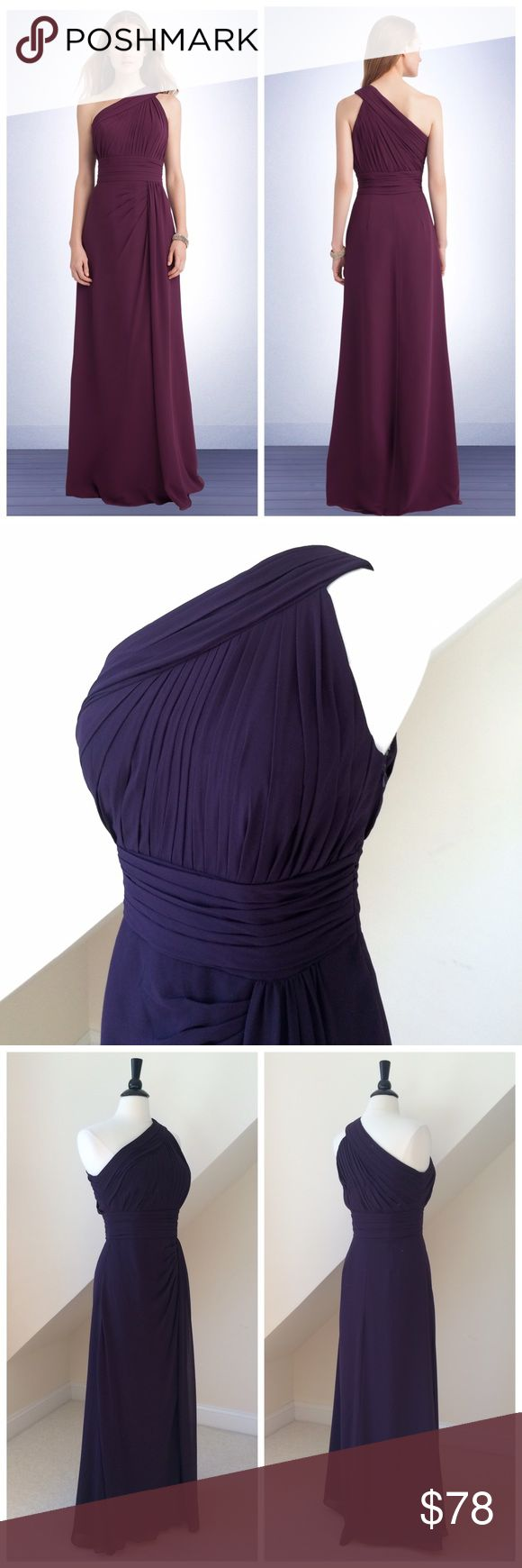 NWT Bill Levkoff Bridesmaid Dress NWT Bill Levkoff Bridesmaid Dress...timeless chiffon bridesmaid gown...fashionable ruched bodice with a single asymmetrical shoulder strap. The ruched bodice ends at the pleated horizontal waist band that cinches in at the natural waist to emphasize your curves...pleats accent the front side of the A-line floor length skirt...side gathers and a slit complete the skirt...ruching on the bodice continues to the asymmetrical back and the zipper is hidden on the…