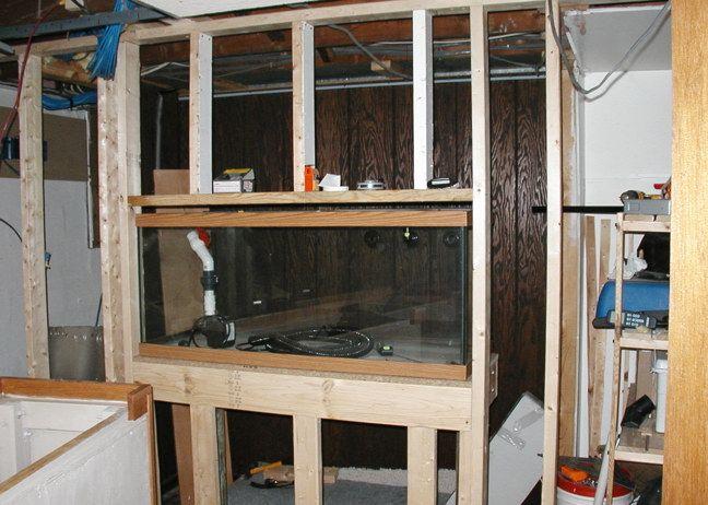 75 Gallon in-wall Reef Aquarium Build Gallery http://www.beananimal.com/gallery/75-gallon-in-wall-aquarium-build-gallery.aspx