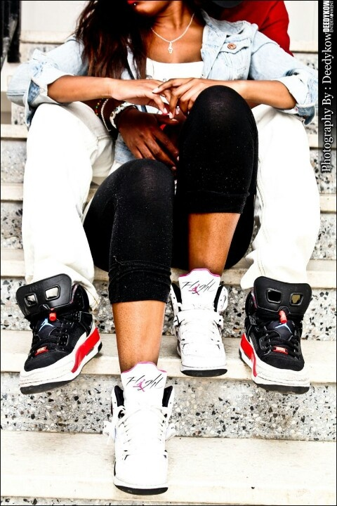 A couple that wears Jordans together stays together lol