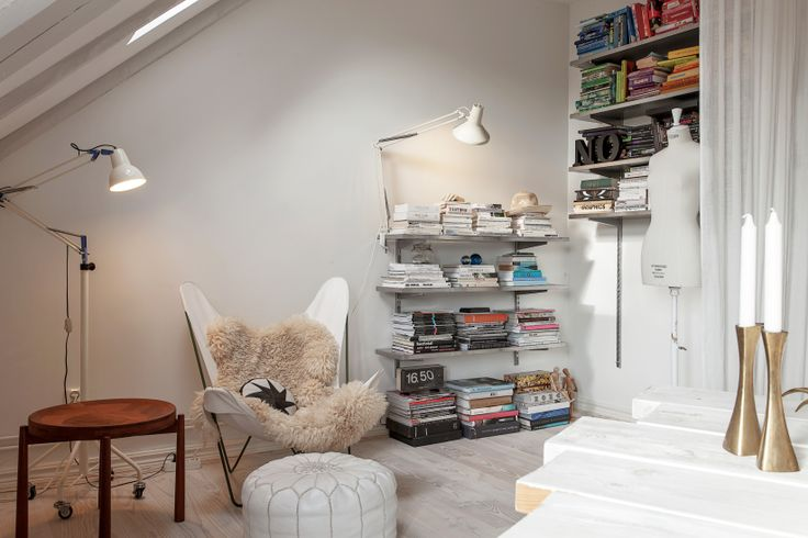 Small library nook.