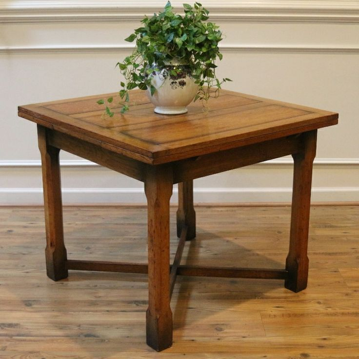 Antique English Oak Dining Table Draw Leaf Extending Pub