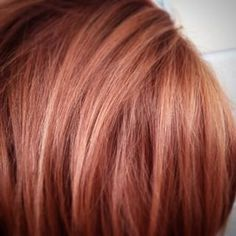 copper with rose gold highlights. This with blonde added in is happening this spring!
