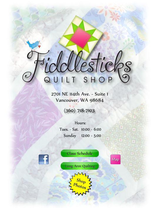 Fiddlesticks Quilt Shop - Vancouver, WA | Quilt Shop Hop Northwest ... : quilt shops in vancouver wa - Adamdwight.com