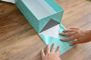 Recycler boites à chaussures et les recouvrir de papiers. DIY                                                                                                                                                                                 Plus
