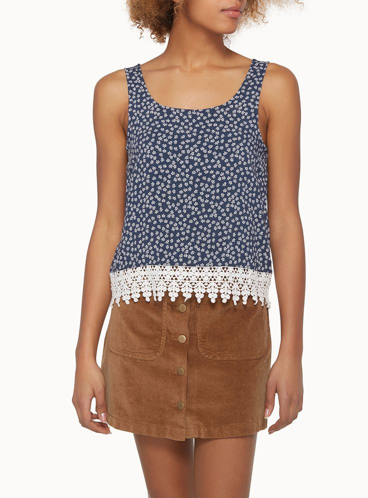La courte cami bordure crochet | Simons