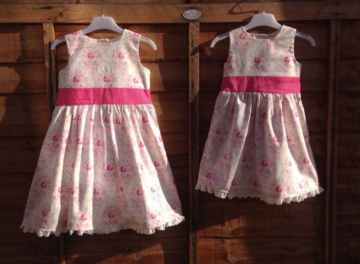 Beautiful matching dresses for a christening x